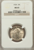Standing Liberty Quarters: , 1928 25C MS65 NGC. NGC Census: (78/50). PCGS Population (74/22).Mintage: 6,336,000. Numismedia Wsl. Price for problem free...