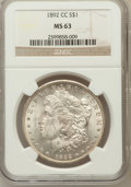 Morgan Dollars: , 1892-CC $1 MS63 NGC. NGC Census: (1102/1177). PCGS Population(2162/1940). Mintage: 1,352,000. Numismedia Wsl. Price for pr...