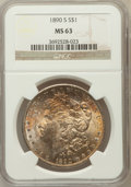 Morgan Dollars, 1890-S $1 MS63 NGC. NGC Census: (2678/2542). PCGS Population(3456/3698). Mintage: 8,230,373. Numismedia Wsl. Price for pro...