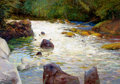 Fine Art - Painting, American:Contemporary   (1950 to present)  , RAY VINELLA (American, b. 1933). Trout Stream. Oil oncanvas. 42 x 60 inches (106.7 x 152.4 cm). Signed lower right:R...