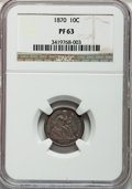 Proof Seated Dimes: , 1870 10C PR63 NGC. NGC Census: (24/87). PCGS Population (48/75).Mintage: 1,000. Numismedia Wsl. Price for problem free NGC...