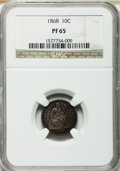 Proof Seated Dimes, 1868 10C PR65 NGC....