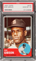 Baseball Cards:Singles (1960-1969), 1963 Topps Bob Gibson #415 PSA Gem MT 10 - Pop One-of-One Condition Rarity! ...