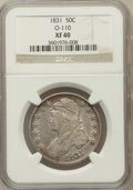 Bust Half Dollars, 1831 50C XF40 NGC. O-110. NGC Census: (79/1351). PCGS Population(138/1429). Mintage: 5,873,660. Numismedia Wsl. Price for ...