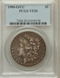 Morgan Dollars: , 1900-O/CC $1 VF20 PCGS. PCGS Population (8/5246). NGC Census:(5/2438). Numismedia Wsl. Price for problem free NGC/PCGS co...