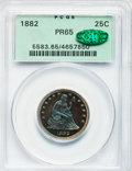 Proof Seated Quarters, 1882 25C PR65 PCGS. CAC....