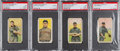 Baseball Cards:Lots, 1909-11 T206 Hindu Brown PSA Graded Collection (4) - With 3Southern Leaguers. ...