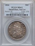 Bust Half Dollars, 1834 50C Small Date, Small Letters MS62 PCGS. O-109, R.1....