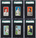 Baseball Cards:Lots, 1909-11 T206 White Borders Baseball SGC Graded Collection (6). ...