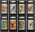 "Non-Sport Cards:Sets, 1955 Doeskin Tissue ""Wings"" SGC-Graded Collection (18)...."