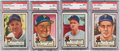 Baseball Cards:Lots, 1952 Topps Baseball High Numbers PSA Graded Collection (4). ...