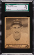 Baseball Cards:Singles (1940-1949), 1940 Play Ball Ted Williams #27 SGC 80 EX/NM 6....