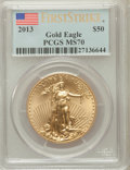 Modern Bullion Coins, 2013 $50 One-Ounce Gold Eagle, First Strike MS70 PCGS. PCGSPopulation (1326). NGC Census: (0)....
