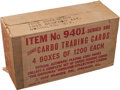 Non-Sport Cards:Unopened Packs/Display Boxes, 1958 Leaf Cardo Trading Cards Unopened Case With 4,800 Cards! ...
