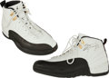 Basketball Collectibles:Others, 1996-97 Michael Jordan Game Worn, Signed Shoes - With Team Provenance!...