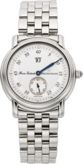 "Timepieces:Wristwatch, Maurice Lacroix ""Heure Sautante"" Steel Jump Hour Wristwatch. ..."