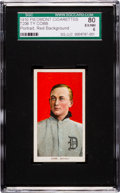 Baseball Cards:Singles (Pre-1930), 1909-11 T206 Piedmont Ty Cobb, Red Portrait SGC 80 EX/NM 6. ...