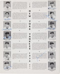 Autographs:Others, 1936 New York Yankees Team Signed World Series Program....