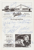 Autographs:Others, 1963 Pittsburgh Pirates Partial Team Signed Program with RobertoClemente....