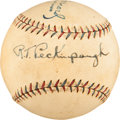 Autographs:Baseballs, Early 1930's Roger Peckinpaugh Single Signed Baseball....