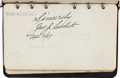 Autographs:Others, 1920's-50's Various Sports Legends & Stars Signed Autograph Albums (2)....