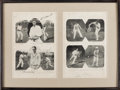 Autographs:Others, 1927 USA & France Davis Cup Teams Signed Display with BillTilden....