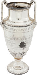 Golf Collectibles:Miscellaneous, 1921 Golf Supremacy Silver Trophy Cup Won by Jim Barnes. ...