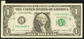 Error Notes:Attached Tabs, Fr. 1913-L $1 1985 Federal Reserve Note. Extremely Fine.. ...