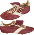 Baseball Collectibles:Others, 1980's Larry Bowa Game Worn Philadelphia Phillies Cleats. ...