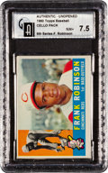 Baseball Cards:Unopened Packs/Display Boxes, 1960 Topps Baseball 6th Series Cello Pack GAI NM+ 7.5 With F.Robinson Top Card! ...
