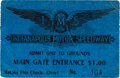 Miscellaneous Collectibles:General, 1909-16 Indianapolis Motor Speedway Ticket Stub....