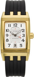 Timepieces:Wristwatch, Jaeger LeCoultre Gold Reverso Grand Sport Automatic, Ref. 290.1.60....