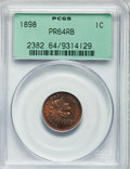 Proof Indian Cents: , 1898 1C PR64 Red and Brown PCGS. PCGS Population (91/87). NGCCensus: (52/91). Mintage: 1,795. Numismedia Wsl. Price for pr...