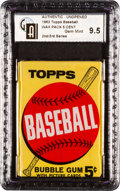 Baseball Cards:Unopened Packs/Display Boxes, 1963 Topps Baseball 2nd/3rd Series 5-cent Wax Pack GAI Gem Mint9.5!...