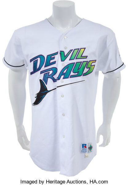 promo code 40686 953a2 1998 Fred McGriff Game Worn Tampa Bay Devil Rays Jersey ...