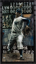 Baseball Collectibles:Others, Circa 2000 Don Larsen Signed Limited Edition Giclee by Stephen Holland....