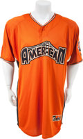Baseball Collectibles:Uniforms, 2007 Josh Beckett Game Worn Signed All Star Pregame Jersey. ...