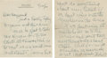 Baseball Collectibles:Others, 1938-50 Eddie Collins Signed Letters Lot of 3 from the Hayward Binney Archive. ...