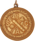 Golf Collectibles:Miscellaneous, 1919 Southern Golf Association Open Tournament Gold Medal Won byJim Barnes....