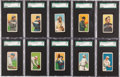 Baseball Cards:Lots, 1909-11 T206 Cycle Cigarettes Series 350 and 460 SGC GradedCollection (13)....