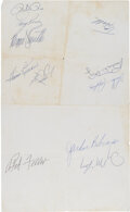 Autographs:Baseballs, 1969 All-Star Game Multi-Signed Baseballs (3) & Press Sheet....