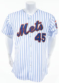 Baseball Collectibles:Uniforms, 2005-08 Pedro Martinez Game Issued/Worn New York Mets Jersey....
