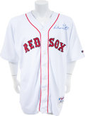 Baseball Collectibles:Uniforms, 2004 Manny Ramirez Game Worn Signed Boston Red Sox Jersey. ...