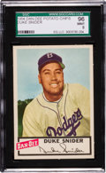 Baseball Cards:Singles (1950-1959), 1954 Dan-Dee Potato Chips Duke Snider SGC 96 Mint 9 - Pop One, NoneHigher! ...