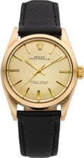 Timepieces:Wristwatch, Rolex Ref. 6334 Gold Top Steel Back Oyster Perpetual, circa 1950. ...