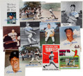 Autographs:Others, 1980's Mickey Mantle Signed Photographs & Pamphlets Lot of12....