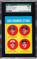 Baseball Cards:Singles (1960-1969), 1963 Topps Pete Rose Rookie #537 SGC 84 NM 7. ...
