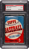Baseball Cards:Unopened Packs/Display Boxes, 1953 Topps Baseball Five Cent Wax Pack PSA EX 5. ...