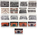 "Hockey Collectibles:Photos, 1940-68 Chicago Blackhawks ""Nestor Johnson Skate Company"" TeamPhotograph Premiums Lot of 17 - Two Signed by Bobby Hull...."