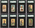 Baseball Cards:Sets, 1909-11 T206 White Border Collection (101) With HoFers, Overprintsand Scarce Brands. ...
